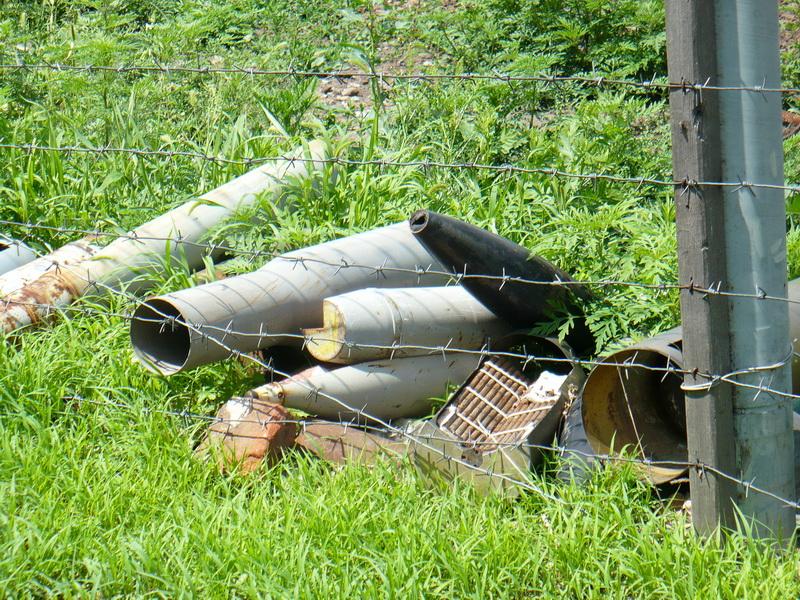 Залишки боєприпасів на майданчику зберігання металобрухту