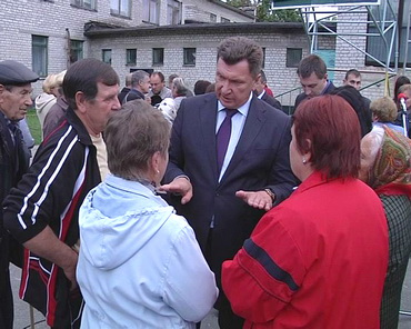 Зустріч мера Степанова з панютянами, ТРК Сігма