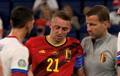 Захисник збірної Бельгії отримав подвійний перелом очниці